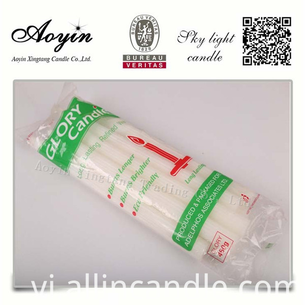 CHEAP WHITE CANDLE096